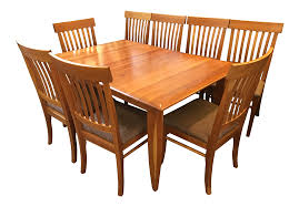 italian arhaus solid cherry dining set chairish
