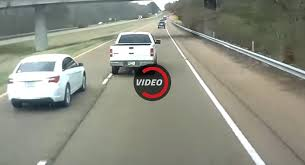 trucker films road rage incident resulting in multi car crash