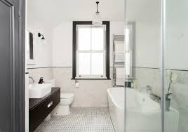 bathroom makeover grey brick tiles and pink accessories makes