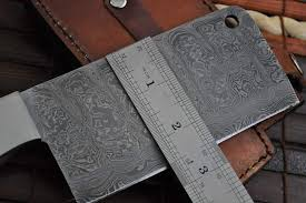 handmade kitchen knives uk handmade chef knife damascus steel 2 5 inch wide blade perkin