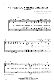 we wish you a merry satb by rob j w pepper sheet