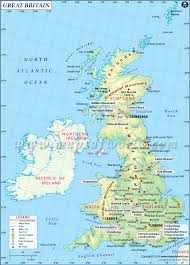 Map Of European Rivers by Map Of Britain Maps Of Great Britain Northern Ireland Map