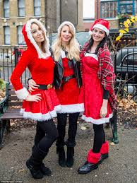 christmas party revellers in leeds and newcastle take to the