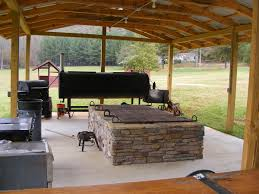 Outdoor Cooking Area The Multi Purpose Backyard Pavilion The Latest Home Decor Ideas
