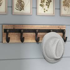 laurel foundry modern farmhouse wood and iron wall mounted coat