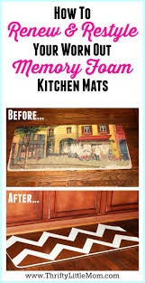 renewing u0026 restyling worn memory foam kitchen mats thrifty