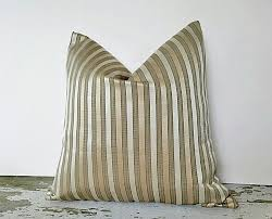 gold sage striped pillow covers metallic gold pillow sage