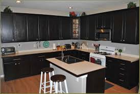 How To Stain Kitchen Cabinets by Staining Kitchen Cabinets Before And After Best Home Decor