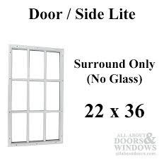 Entry Door Glass Replacement X X 1 2 9 Lite Surround No Glass Door