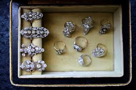 antique diamond rings images My jewel box elongated antique diamond ring obsession gem jpg