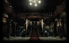 halloween scrolls background image resident evil biohazard hd remaster background main hall