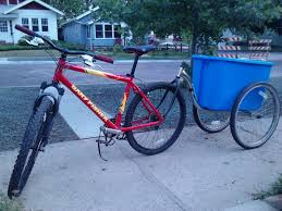 simple no weld bike trailer 6 steps with pictures