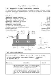 design of inverted strip fdn beam column bending