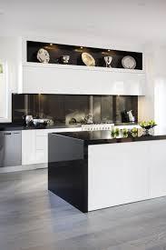 kitchen design ideas extravagent kitchen in white and black