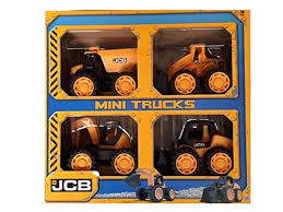 new childrens jcb mini trucks playset set of 4 diggers tractors