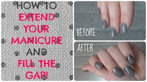 how to extend any manicure sns gel acrylic nail polish