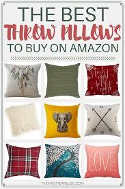 The best throw pillows to on Amazon