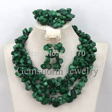 emerald green fashion necklace images New arrival fashion green nigerian coral beads jewelry set indian jpg