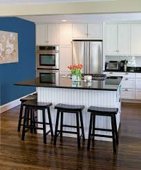 outstanding contemporary kitchen design alongside navy blue accent