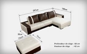 dimension canapé angle canapé d angle design en cuir roma pouf pop design fr