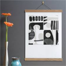 how to hang art prints modern abstract art print ready to hang wall art monochrome