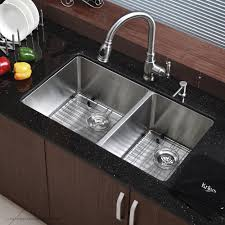 double basin apron front sink kraus farmhouse apron front stainless steel 33 in double basin