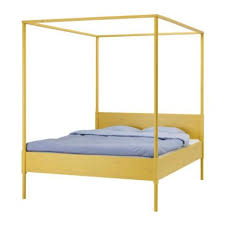 hemnes four poster bed frame at ikea apartment therapy