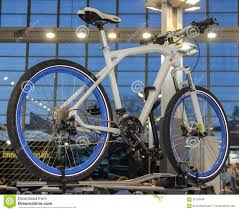 bmw bicycle 2017 serbia belgrade april 2 2017 the close up of bmw bicycle th