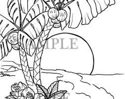 tropical beach coloring pages beach coloring page etsy