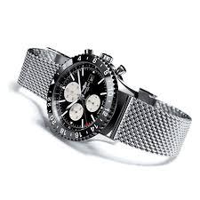 breitling steel bracelet images Chronoliner watch with steel mesh bracelet breitling the jpg