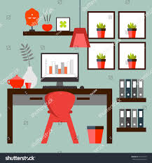 flat design zen home office layout stock vector 512475259 flat design of zen home office layout relaxing work environment