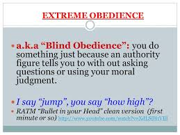 Blind Obedience To Authority Interpret The Quote U2026 Social Control U201cwe Must Keep Tabs On The