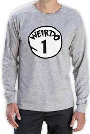 weirdo 1 costume long sleeve t shirt halloween party matching bff