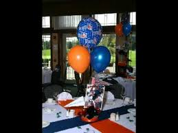 balloon arrangements chicago chicago bears football theme party centerpieces and balloons by a