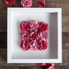 mini paper rose framed artwork lia griffith