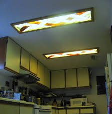 Kitchen Ceiling Light Fixtures Fluorescent Lighting Ideas Decorative Fluorescent Kitchen Light Fixture Cover