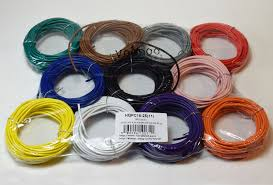 primary wire 8 colors 25ft 275ft 18 gauge red white blue green
