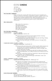 free contemporary construction resume templates resumenow