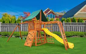 gorilla playsets frontier cedar wooden swing set walmart com with