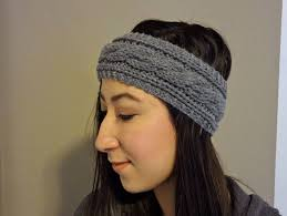 knitted headbands diy cable knit headband pattern lil bit