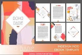 boho indesign ebook template presentation templates