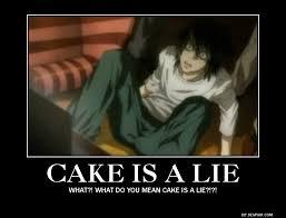 The Cake Is A Lie Meme - cake is a lie by thisonenarutofreak on deviantart