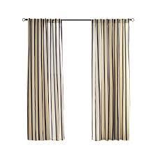 Cabana Curtains Shop Solaris Cabana Stripe 96 In Black Polyester Back Tab Light