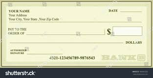 Free Cheque Template Bank Check Bank Cheque Vector Stock Vector 160961933 Shutterstock