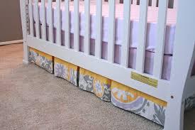 Crib Bed Skirt Diy Easy Diy Box Pleat Crib Skirt Tutorial Baby Pinterest Crib