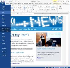 how to create an email template in outlook template business