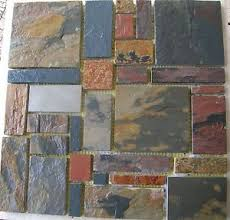 SLATE Stone MOSAIC RANDOM TILES Kitchen Backsplash FREE PRIORITY - Slate kitchen backsplash