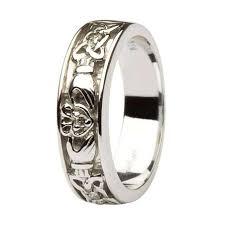 house wedding band claddagh celtic knot diamond set 14kt white gold wedding