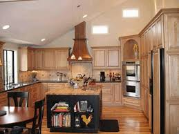 what is a kitchen island vaulted ceiling kitchens gray and yellow floating wall cabinet