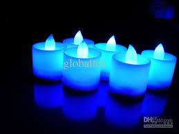blue tea light candles 2018 wholesale romantic led miulti color tea light candles idea